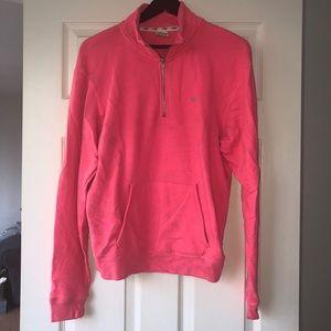 Half zip Pink Victoria's Secret Sweatshirt